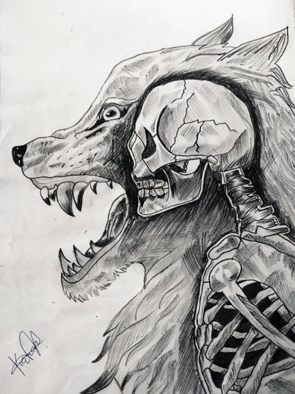 Arya School, Karan Kerai, 17, The Beast Within, pencil