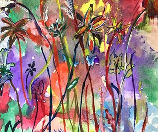 Anidan Centre, Anna Mokeira, 19, African Flowers, watercolour