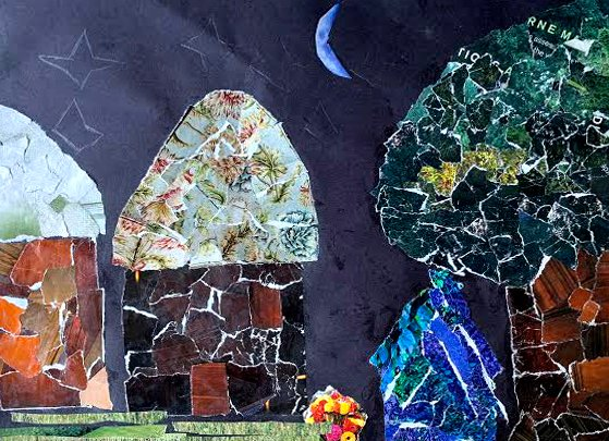 Anidan Centre, Halima Ali, 13, Under the Moon, collage