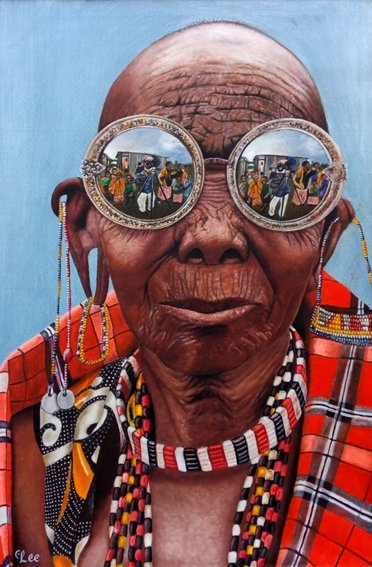 04205, Lee Gitahi, 22, Nyeri - Reflections, oil SMALL